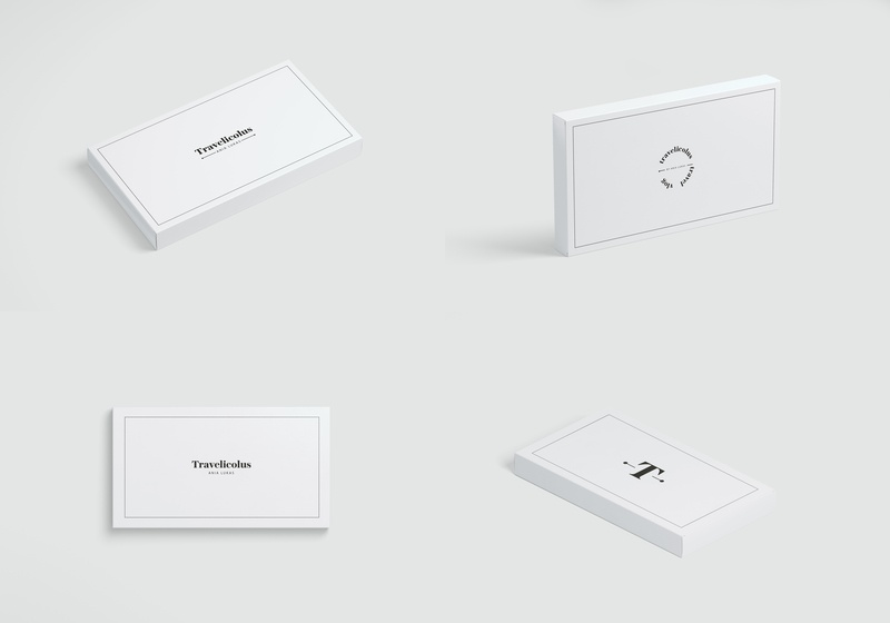 Travelicous Logo mockup design illustration icon business card typography design logo logotype