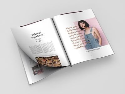 Magazine Design graphic design fashion paper illustration typography branding magazin