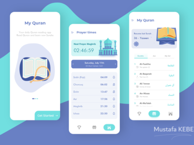 Quran reading app icon iphone x branding logo design app adobe xd ux ui