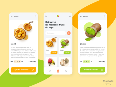 FruitSen - Free shopping app minimal clean illustration iphone x logo app design ux ui adobe xd
