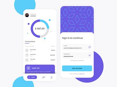Wallet App Design wallet money banking clean design app adobe xd