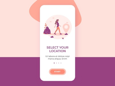 Onboarding screen - Select location concept