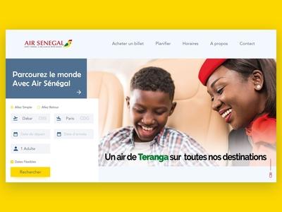 Air Senegal Landing page concept