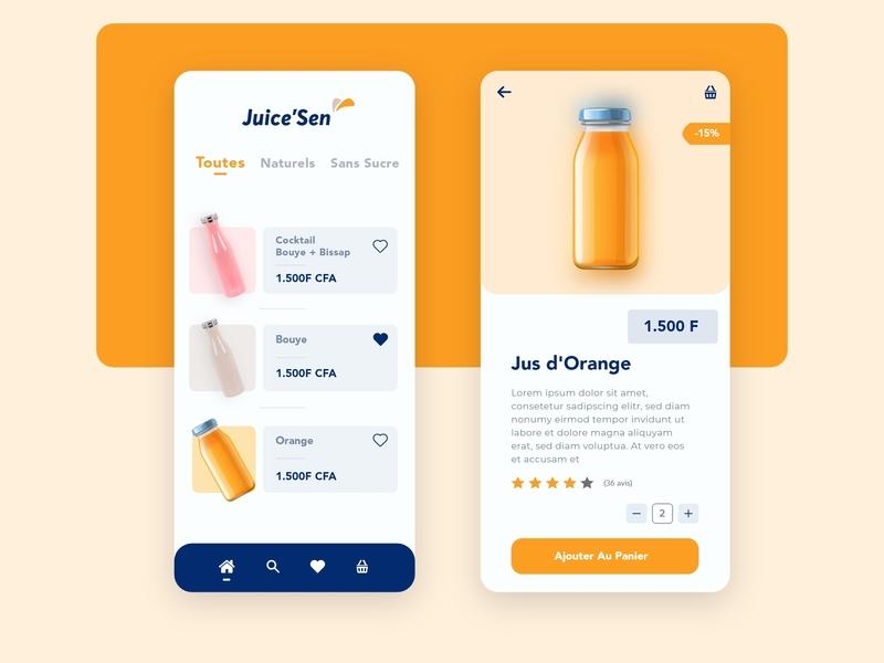 Juice Sen typography iphone x clean flat minimal vector app design adobe xd ux ui