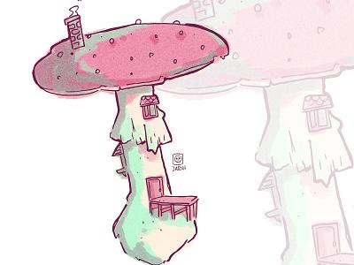 fungi box illustrations fungi illustration house mushroom