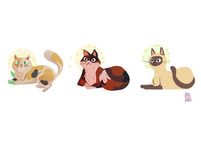 cats cats kids. editorial doodle illustration
