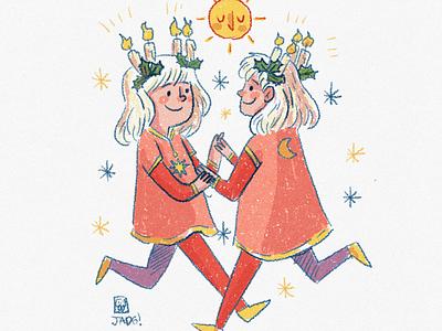 Winter sun illustration