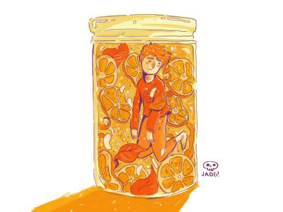 Orange Boy boy art charactedesign sketch kids. editorial comic illustration doodle