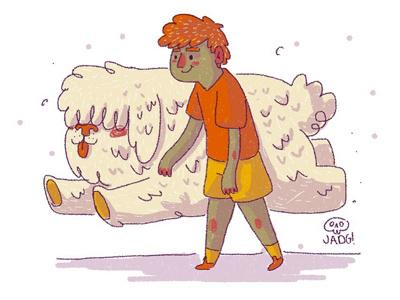 Perritu boy comic kids. editorial naif charactedesign sketch illustration doodle