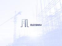 """OLD BAKU' construction logo branding and identity"