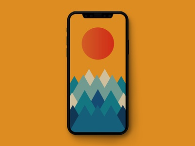 Mountains Wallpaper (iPhone and Android)