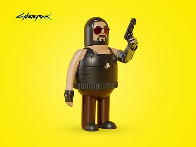 Cyberpunk 2077 Keanu Reeves 3D concept keanu reeves cyberpunk 2077 interactive vision blender 3d illustration cyberpunk design intervi b3d 3d