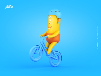 Social Monster Agency Rebranding + Brand heroes redesign brand heroes intervi interactive google ads google social monster blender3d 3d 3d art monsters rebranding bike branding illustration