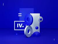 Intervi - 3d geometric illustration