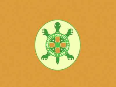 A Tortoise Reminder pin tortoise turtle icon logo illustration design