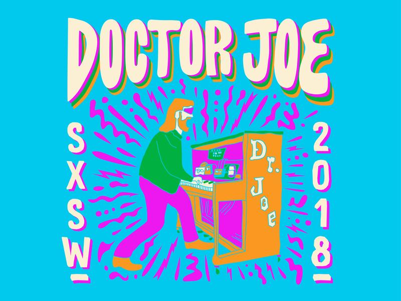 Dr. Joe neon illustration event promotional promotional design music art musician social media music