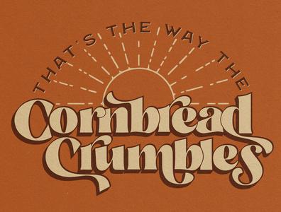 Cornbread vintage southern cornbread lettering illustration denver illustration art