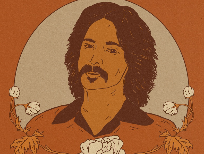 John Prine portrait illustration portrait john prine country music nashville illustration denver colorado illustration art