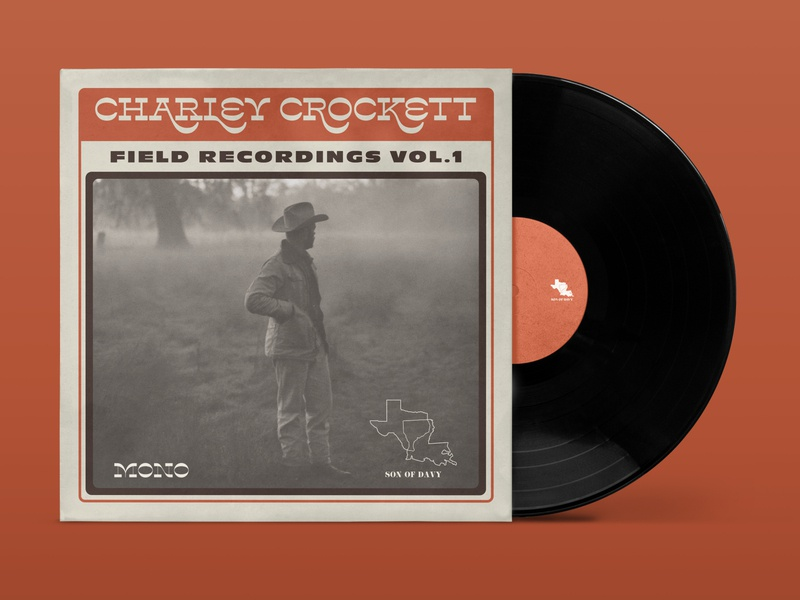 Charley Crockett - Field Recordings Vol. 1 hoodfonts lone pine design music art album design album cover design music field recordings charley crockett