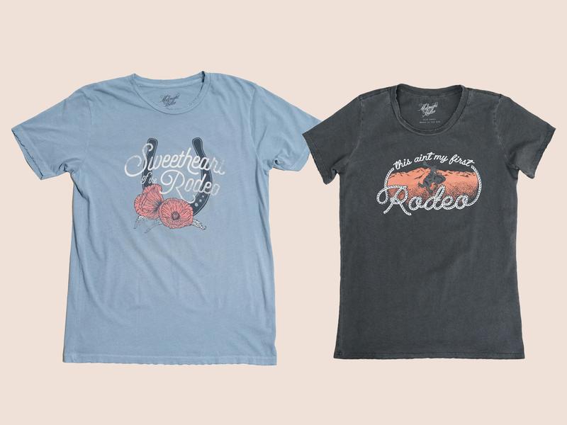 Midnight Rider Shirts merch midnight rider tshirts lettering music art western illustration denver colorado