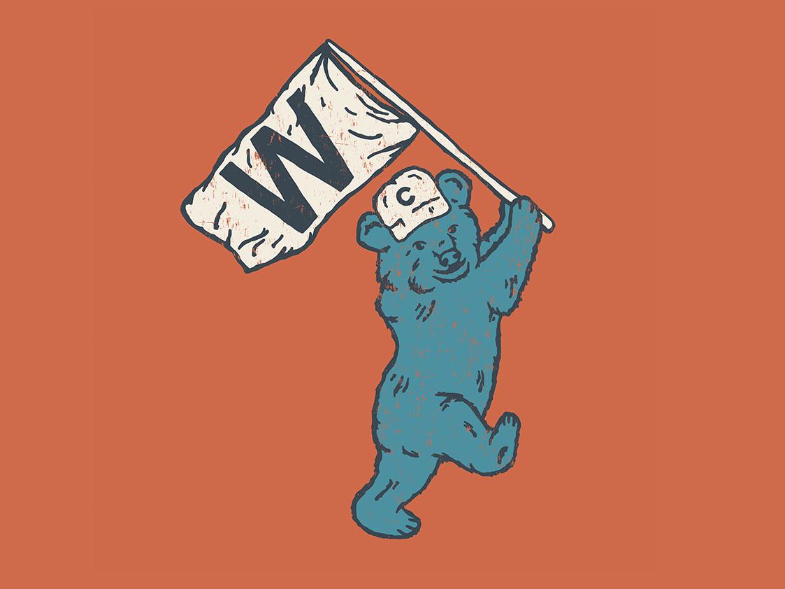 Cubs W chicago cubs chicago bears wrigley chicago cubs baseball america denver colorado illustration art