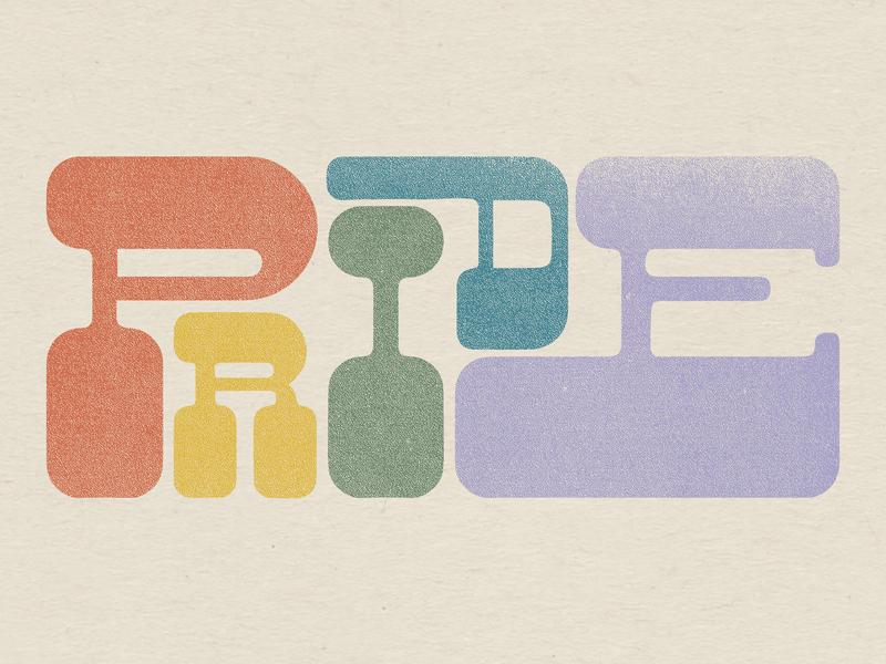 PRIDE rainbow type pride month pride typogaphy lettering design illustration denver colorado illustration art