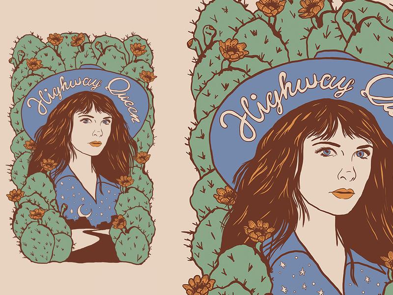 Nikki Lane Poster flower cactus cowgirl nikki lane country music nashville music art illustration western denver colorado illustration art