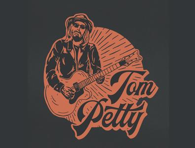 Tom Petty music art rock n roll guitar typogaphy lettering illustration denver colorado illustration art tom petty