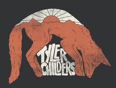 Tyler Childers country outlaw kentucky fox tyler childers country music lettering nashville music art western illustration denver colorado illustration art