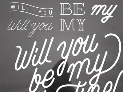 Valentine typography handmade script valentine lettering