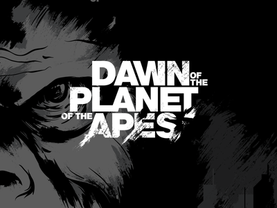 Dawn of the Planet of the Apes movie poster typography logotype planet of the apes
