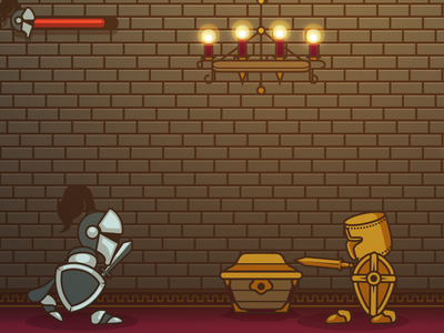 Besieged - a mobile game knight vector mobile game iphone app