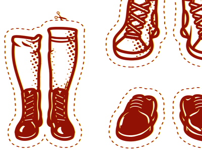 Shoes vector shoes cutout sticker leather old school