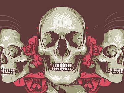 Skulls n Roses illustration roses skulls vector