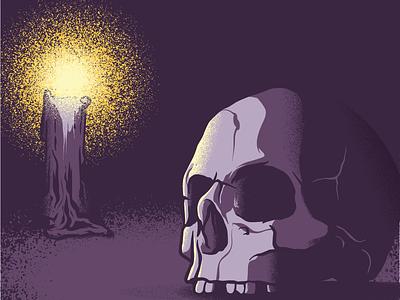 Happy Halloween illustration vector candle skull halloween
