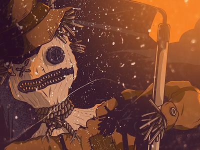 Happy Halloween scare crow art digital illustration vector halloween