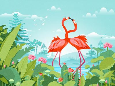 Flower · flamingos package 插图 illustrations