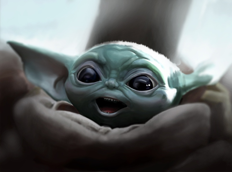 BabyYoda Digital Painting