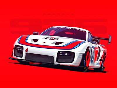 Porsche 935 digitalartist digital painting wheels race cardesign car porsche poster digitalart autmotive design red sketch illustration