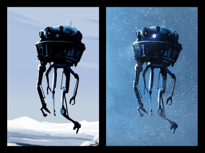 Probe Droid empire strikes back empire hoth disney speed art fanart droid probe droid starwars