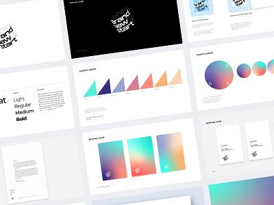 Throwback Brand Guidelines color digital gradients logo branding