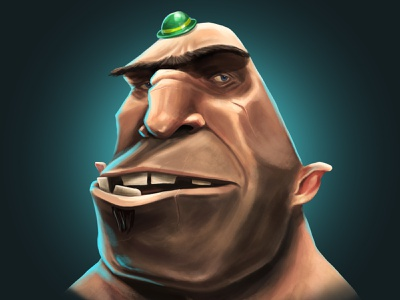 He loves his hat! thug man brute hat madewithwacom photoshopart illustrator character design character illustration
