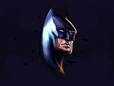 More Batman freehanddrawing freehand illustrations comic art madewithwacom sketch dccomics batman character digital illustration digital fanart digital art illustration