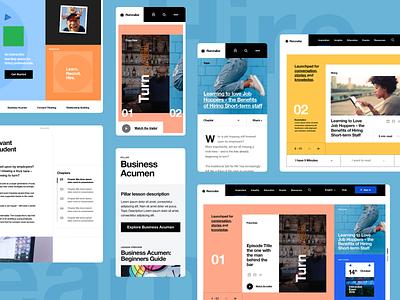 Templates brutalist design blocks colour color website concept web design website design website
