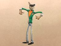 Buddy Thunderstruck Illustration