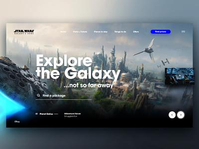 StarWars Galaxy's Edge starwars disney concept uidesign uiux ui xd adobexd web