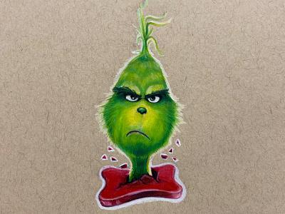 Grinch fantasy red green prismacolor prisma illustration illustrator
