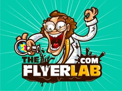 The FlyerLab - Illustrative and Complex Logo Design