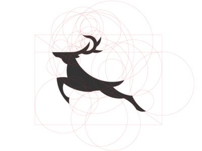 today practice :) deer deer logo deer mark jumping deer jumping suhandi grid mark