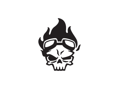 London Rider skull skull logo branding logos rider riding fire